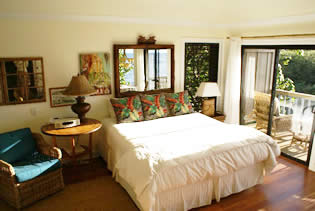 Cottage rental in Kauai Hawaii - master bedroom