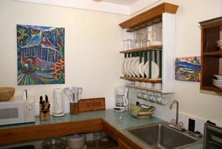 Cottage rental in Kauai Hawaii with kitchen